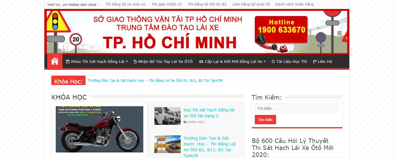 Trung tâm đào tạo lái xe Thành Phố Hồ Chí Minh