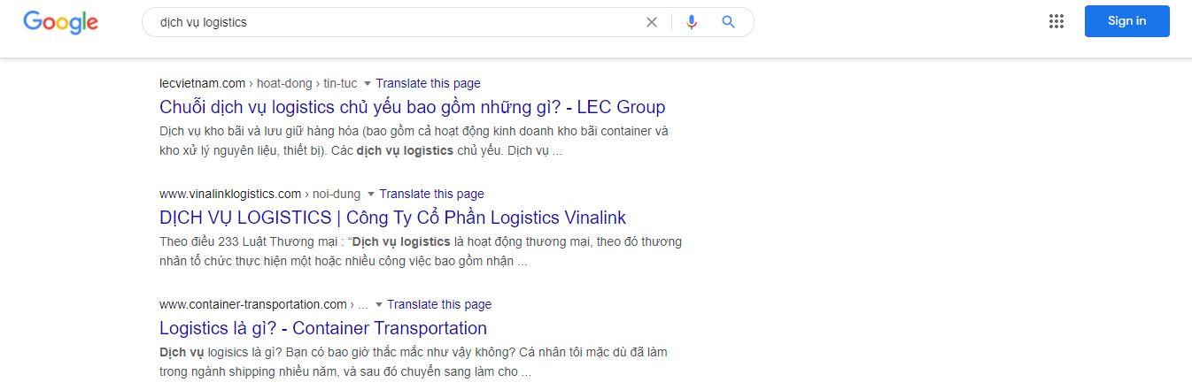 tìm kiếm qua search engine